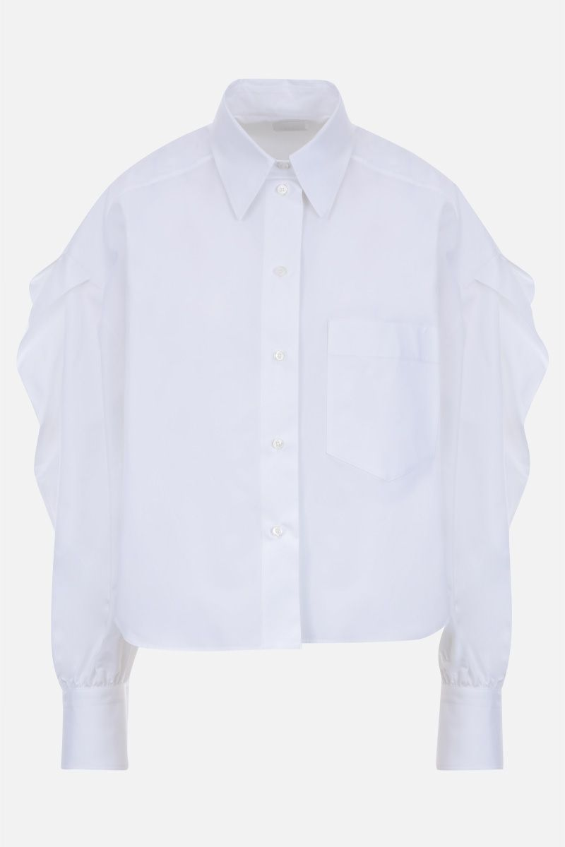 VALENTINO: cotton cropped shirt Color White_1