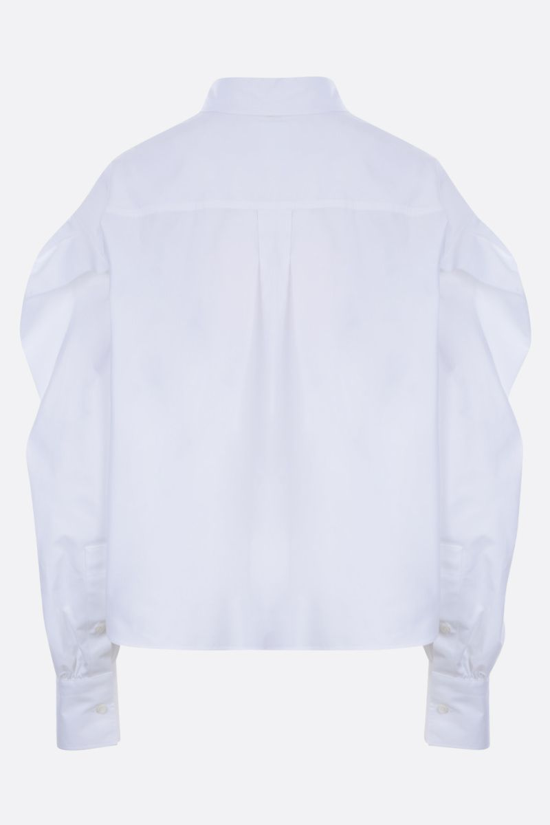 VALENTINO: cotton cropped shirt Color White_3