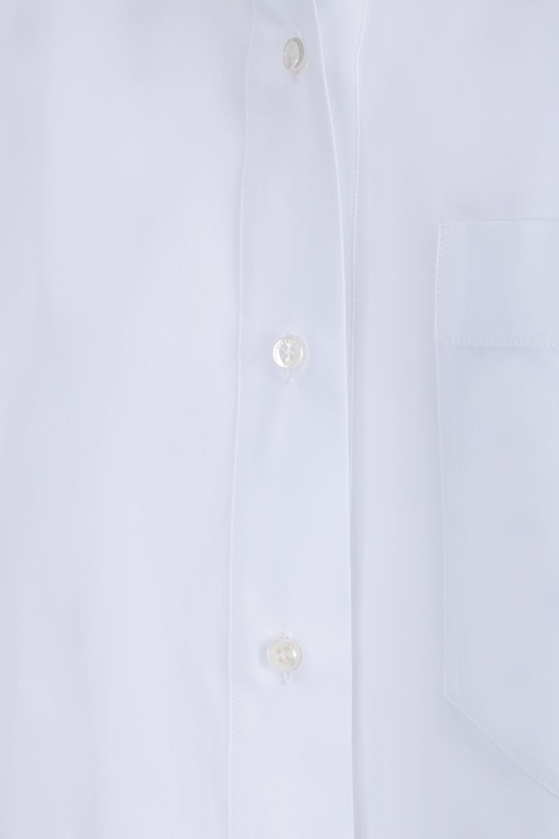 VALENTINO: cotton cropped shirt Color White_5