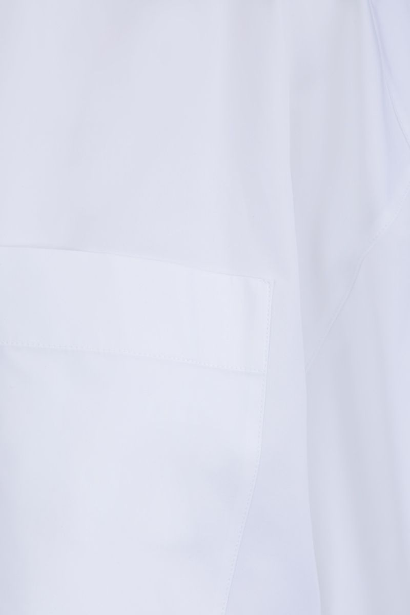 VALENTINO: cotton cropped shirt Color White_6