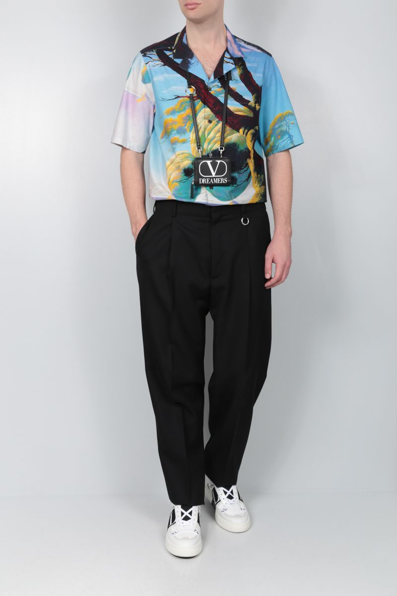 VALENTINO: Floating Island cotton bowling shirt_2