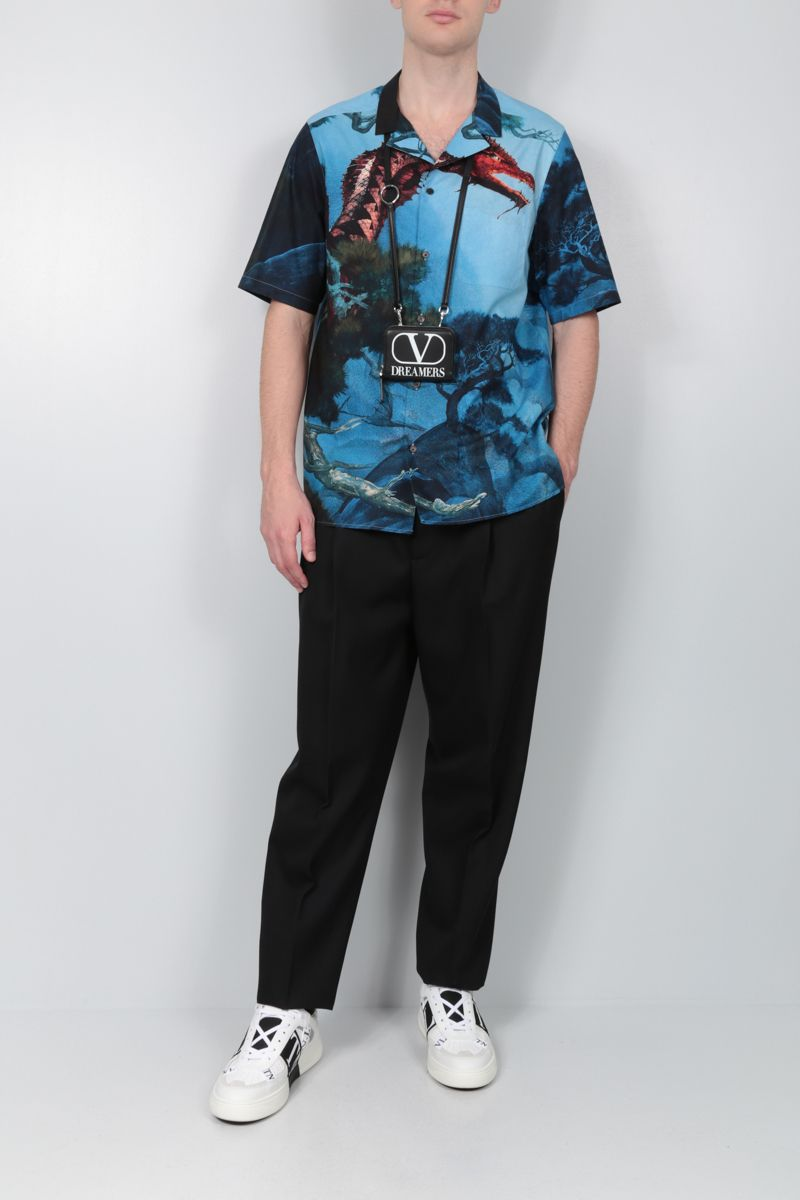 VALENTINO: Dragons Garden cotton bowling shirt_2