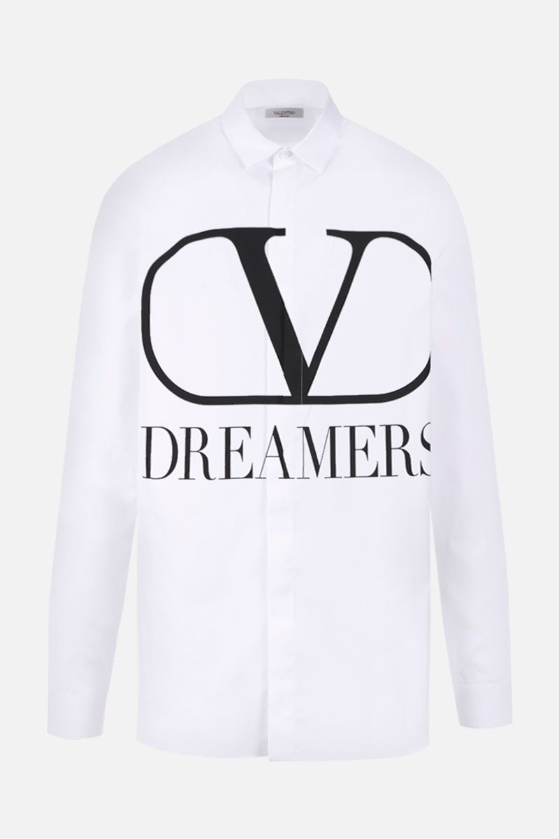 VALENTINO: VLOGO Dreamers cotton shirt Color White_1