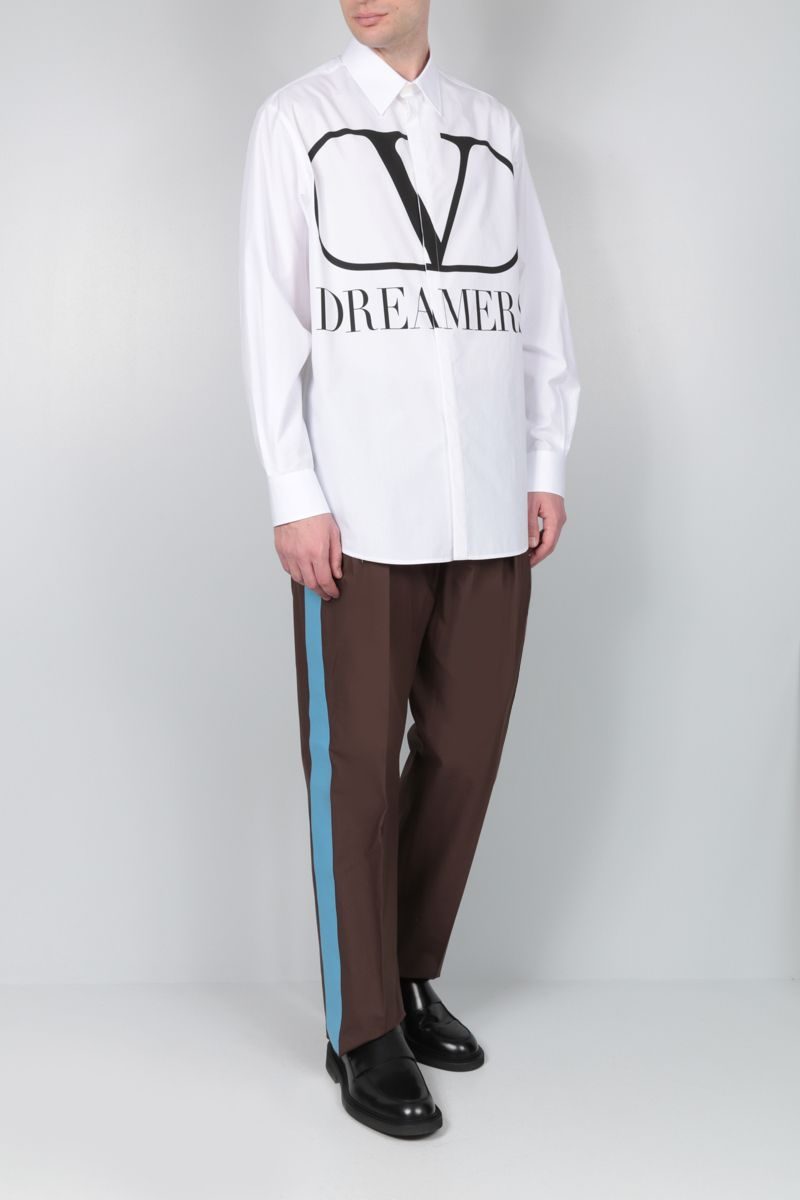 VALENTINO: VLOGO Dreamers cotton shirt Color White_2