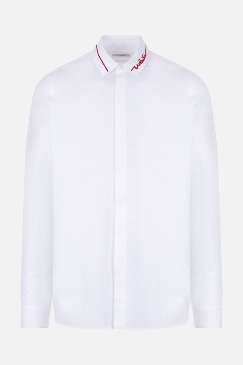 VALENTINO: Valentino signature embroidered cotton shirt Color White_1