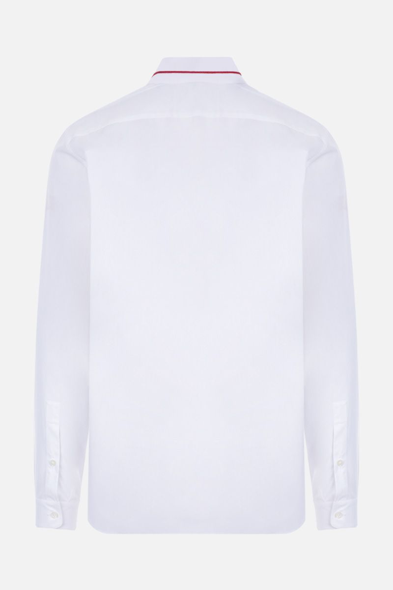 VALENTINO: Valentino signature embroidered cotton shirt Color White_2