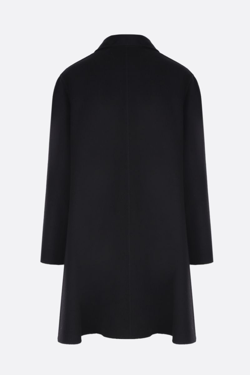 VALENTINO: single-breasted coat in Compact wool Color Black_2