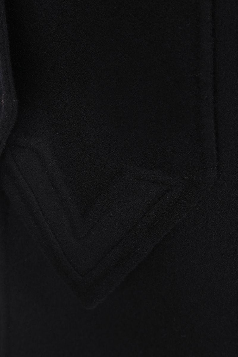 VALENTINO: single-breasted coat in Compact wool Color Black_3