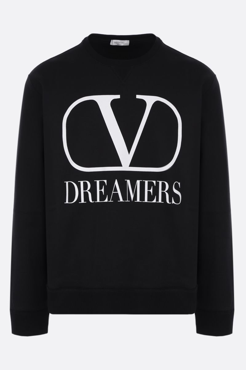 VALENTINO: VLOGO Dreamers cotton blend sweatshirt Color Black_1