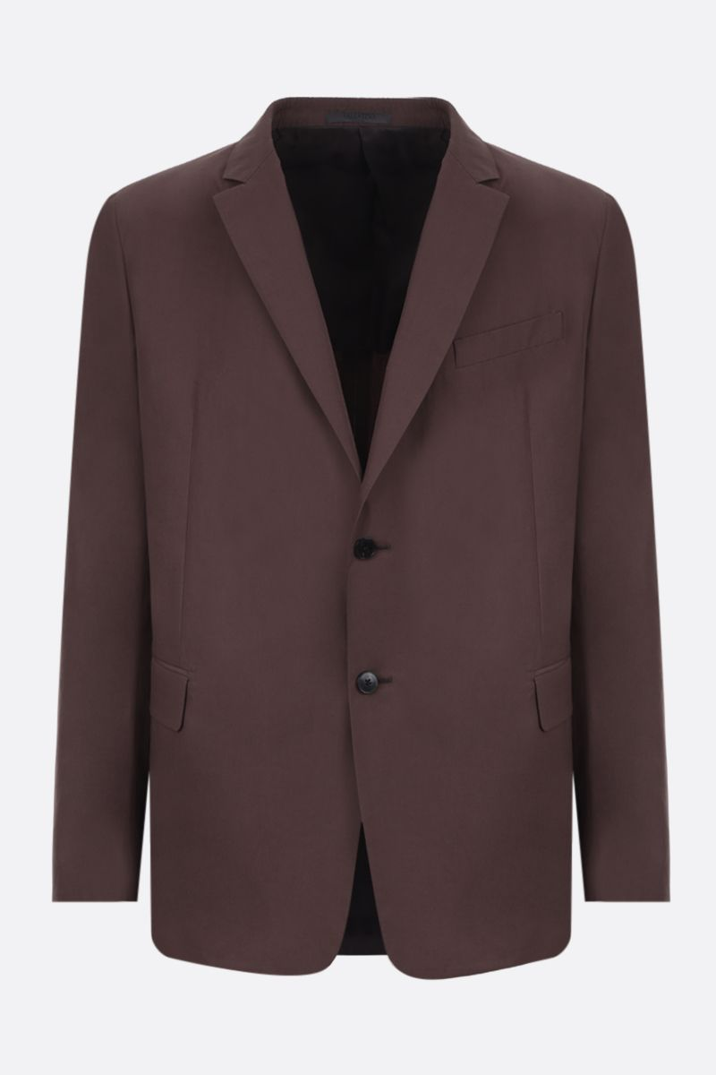 VALENTINO: cotton single-breasted jacket Color Brown_1