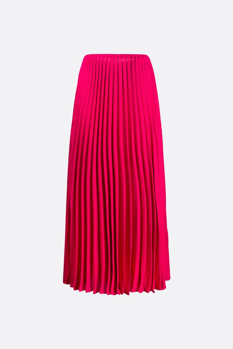 VALENTINO: silk pleated skirt Color Pink_1