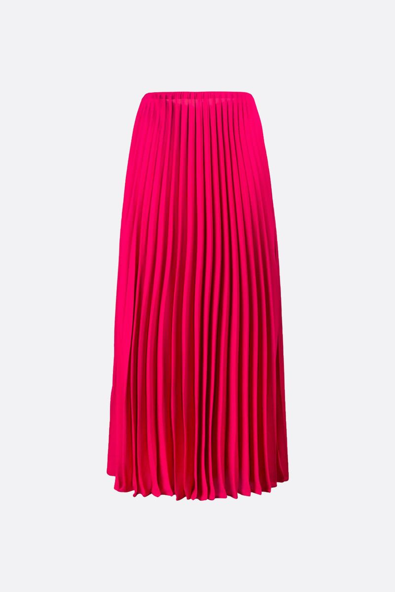 VALENTINO: silk pleated skirt Color Pink_2