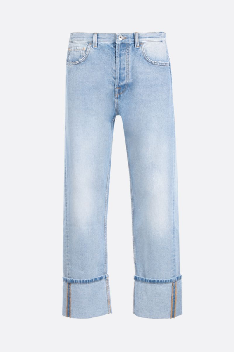 VALENTINO: deconstructed VLOGO straight-fit jeans Color Blue_1