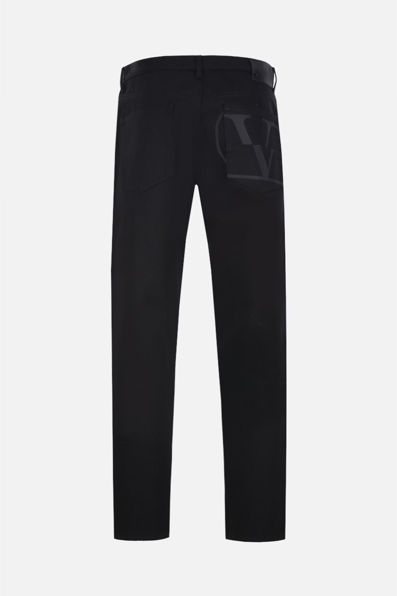 VALENTINO: VLOGO print regular-fit jeans Color Black_3