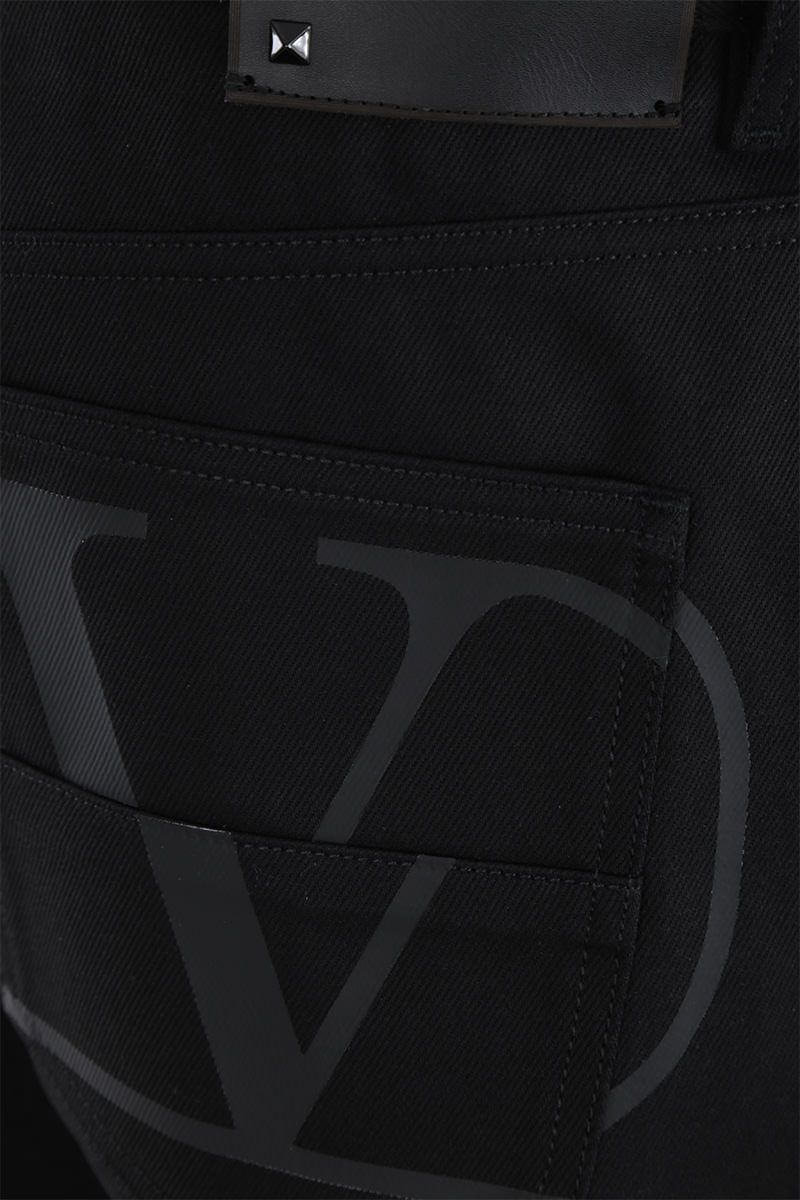 VALENTINO: VLOGO print regular-fit jeans Color Black_4