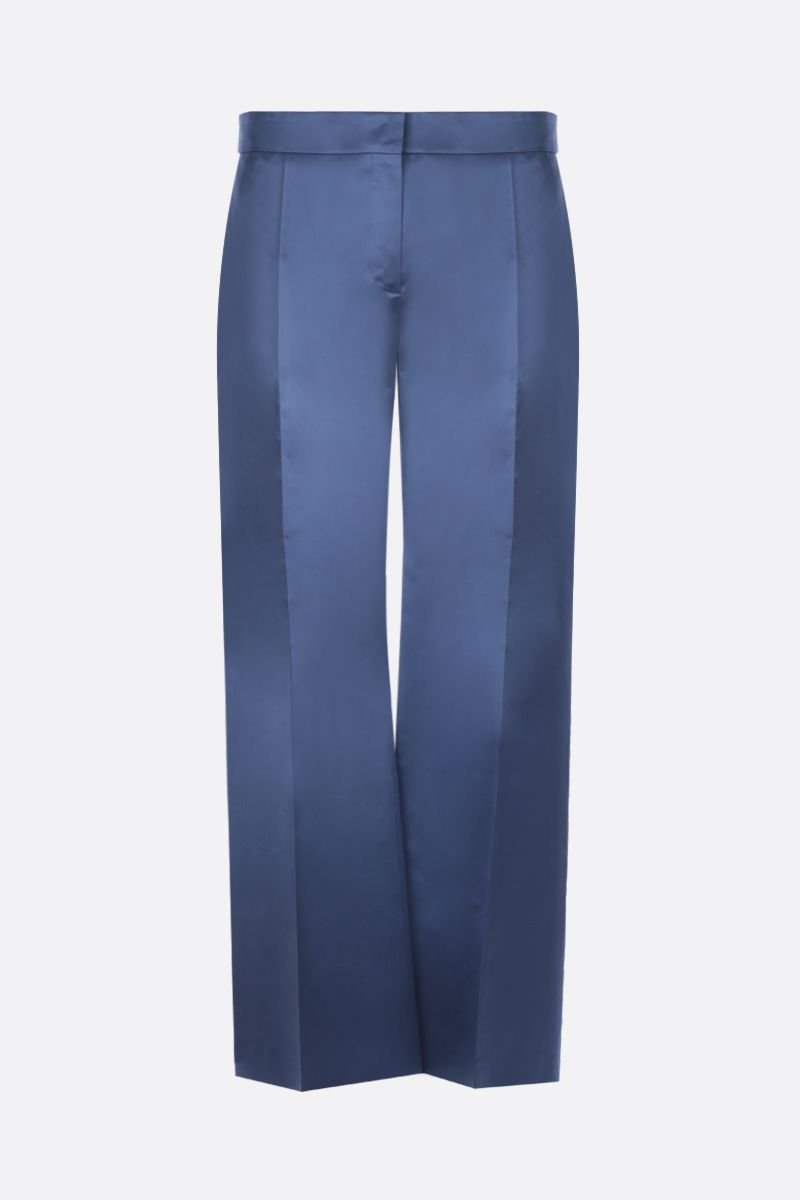 VALENTINO: pantalone straight fit in raso Colore Blu_1