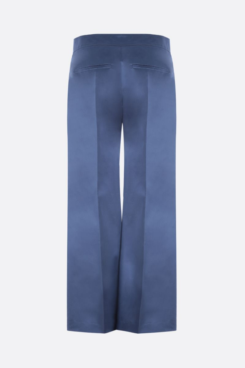 VALENTINO: pantalone straight fit in raso Colore Blu_2