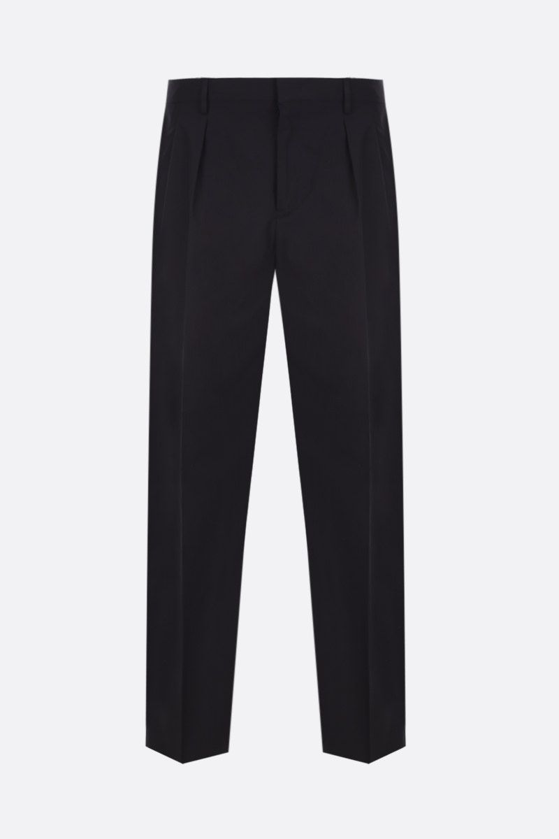 VALENTINO: darted cotton pants Color Black_1