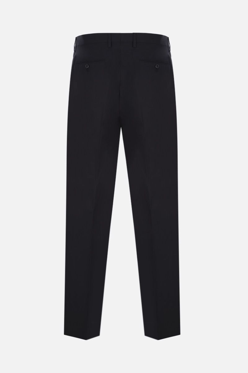 VALENTINO: darted cotton pants Color Black_2