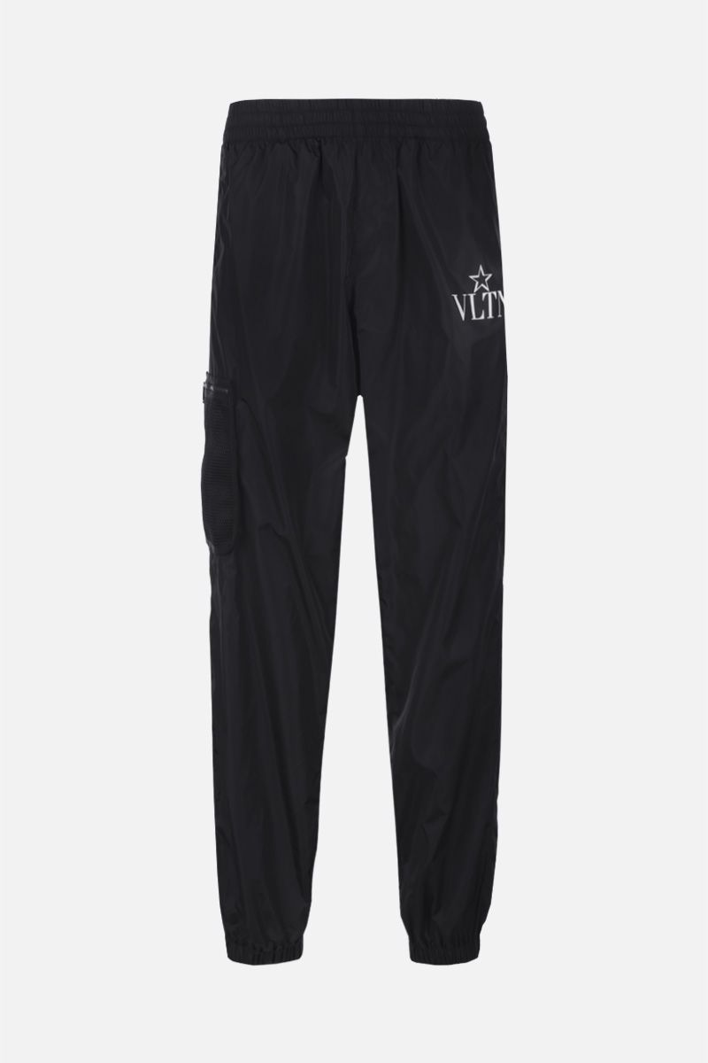 VALENTINO: VLTNSTAR nylon cargo pants Color Black_1