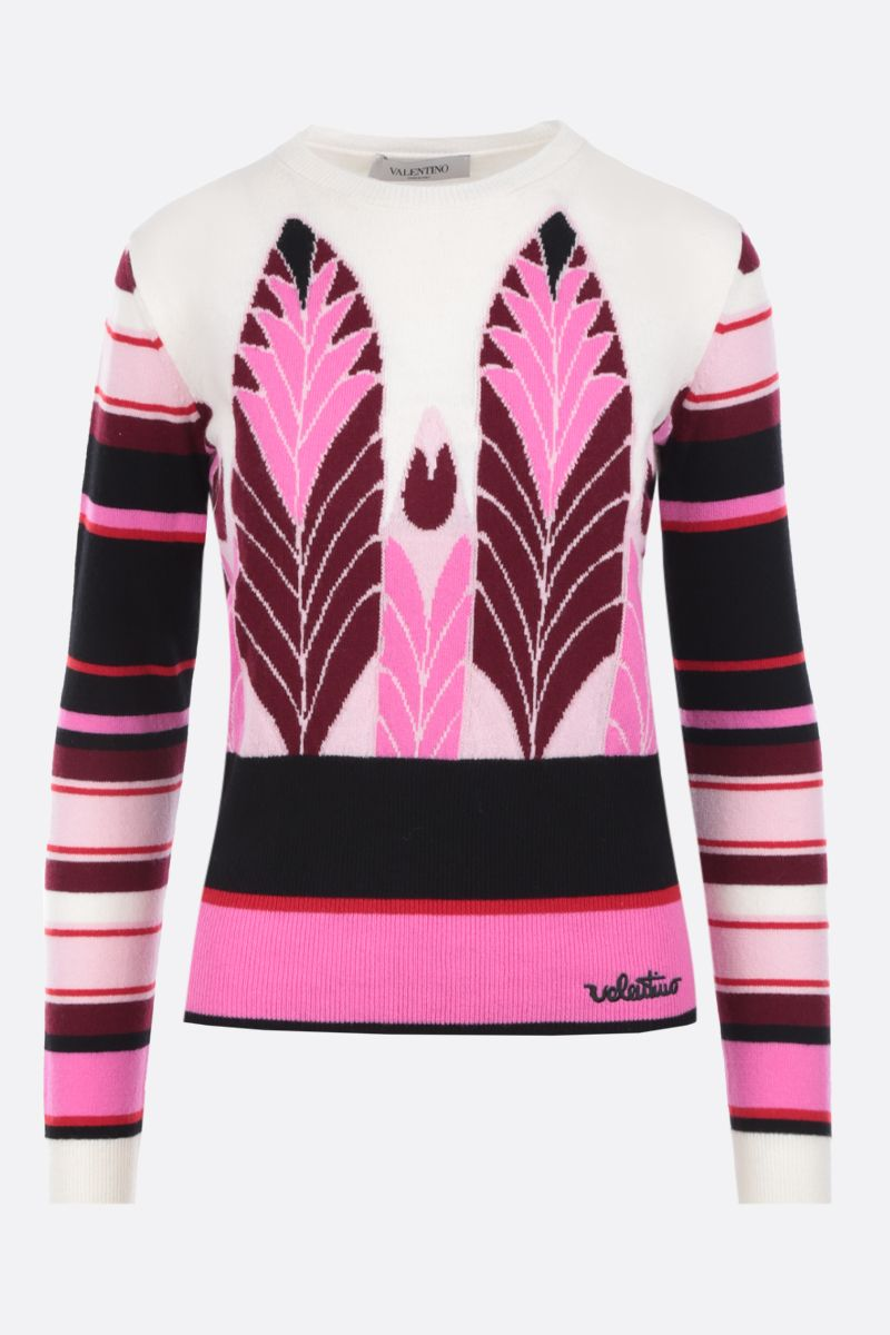 VALENTINO: Pop Feathers wool cashmere pullover_1