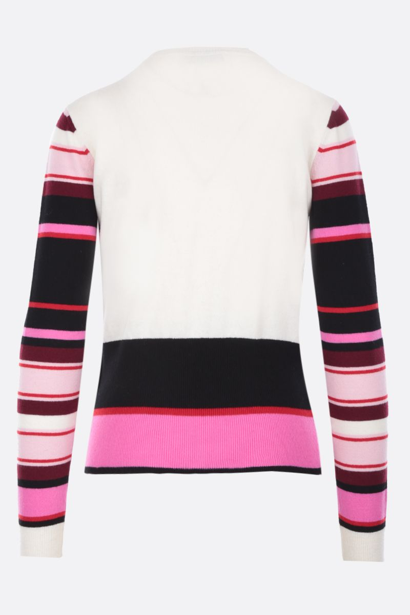 VALENTINO: Pop Feathers wool cashmere pullover_2
