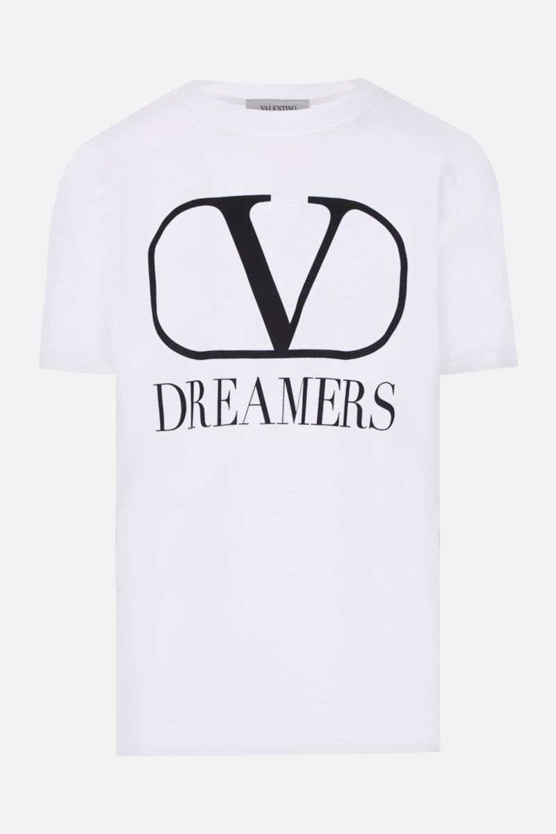 VALENTINO: VLOGO Dreamers cotton oversize t-shirt Color White_1