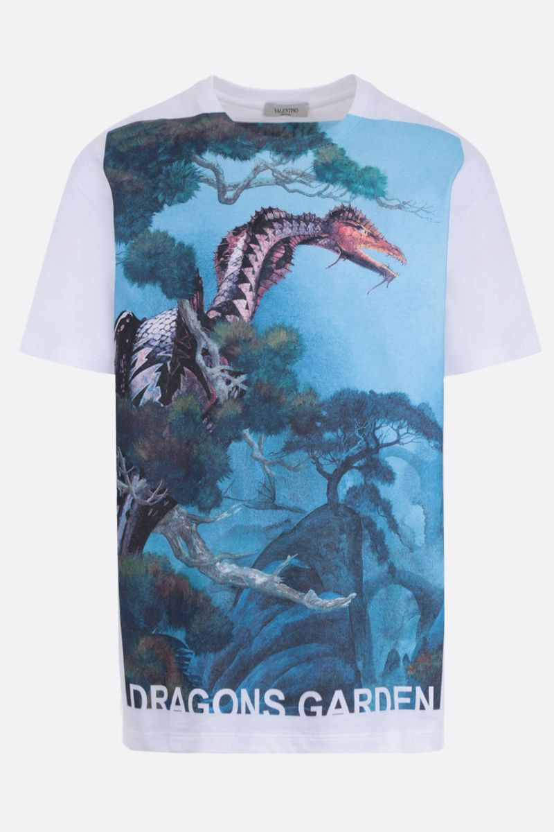 VALENTINO: Dragons Garden cotton jersey t-shirt_1