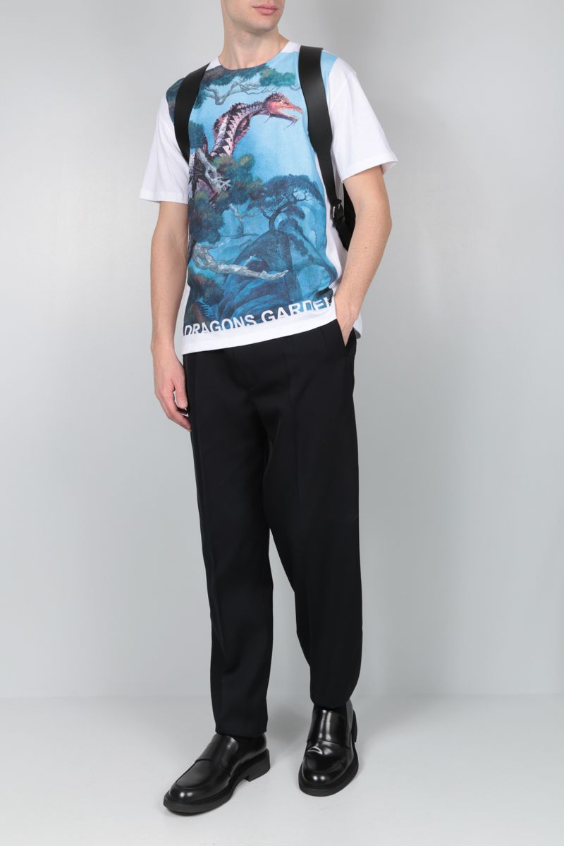 VALENTINO: Dragons Garden cotton jersey t-shirt_2