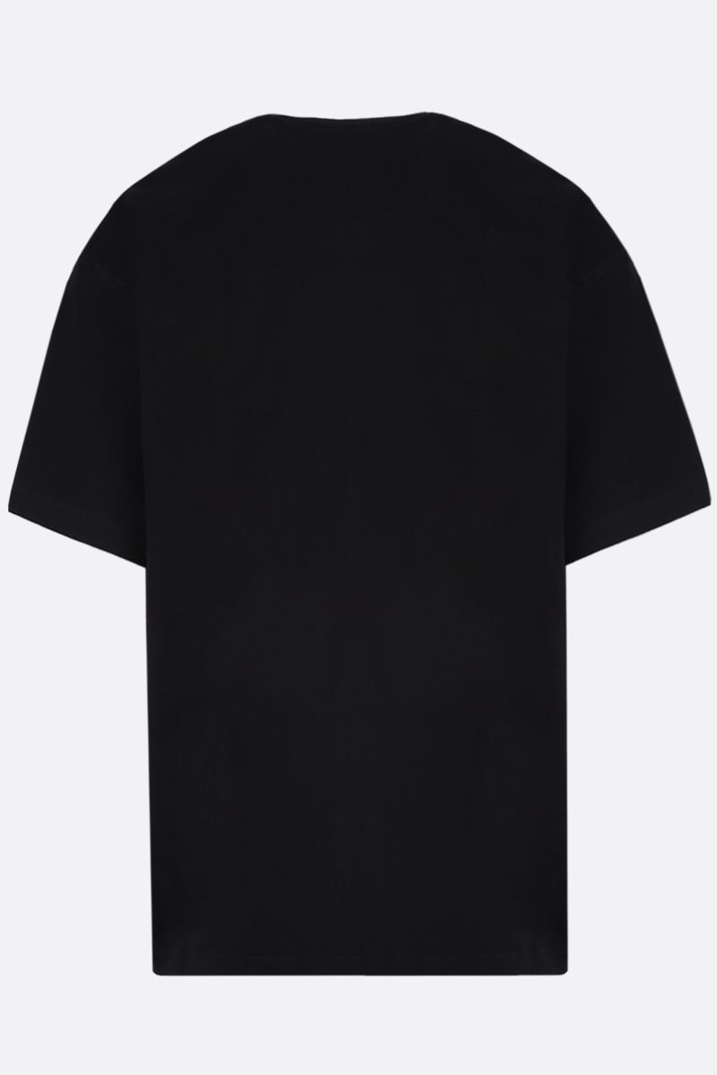 VALENTINO: deconstructed VLOGO cotton oversize t-shirt Color Black_2