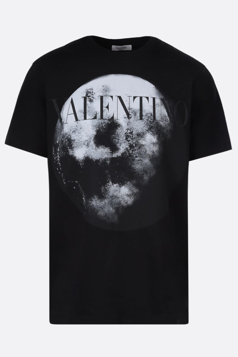 VALENTINO: Moon Dust cotton t-shirt Color Black_1
