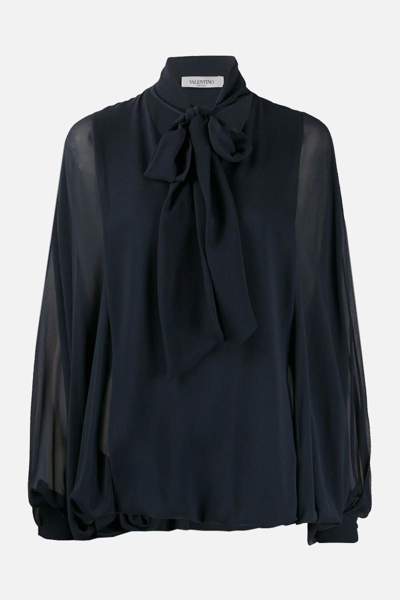 VALENTINO: lavallière-detailed silk blouse_1