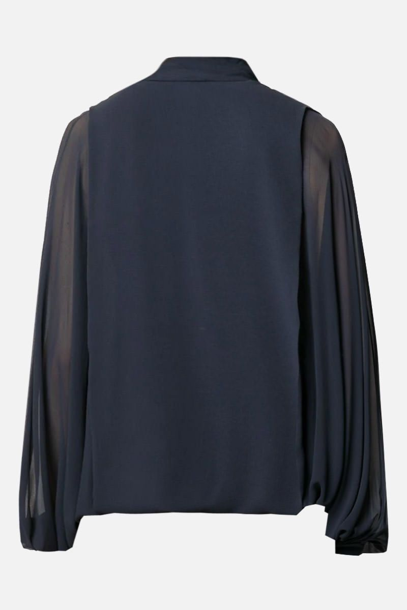 VALENTINO: lavallière-detailed silk blouse_2