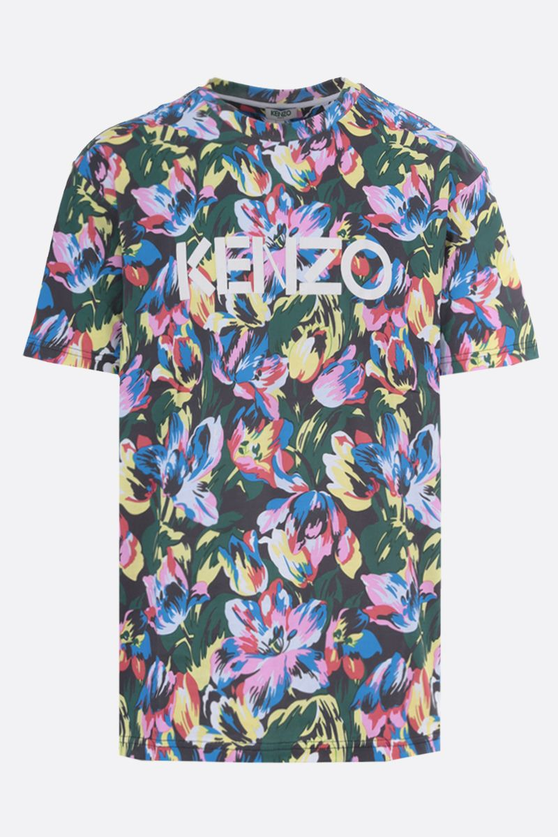 VANS X KENZO: t-shirt oversize Tulipes in cotone Colore Nero_1