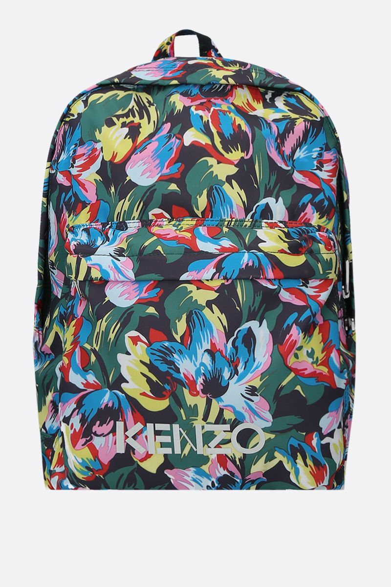 VANS X KENZO: Tulipes nylon backpack Color Black_1