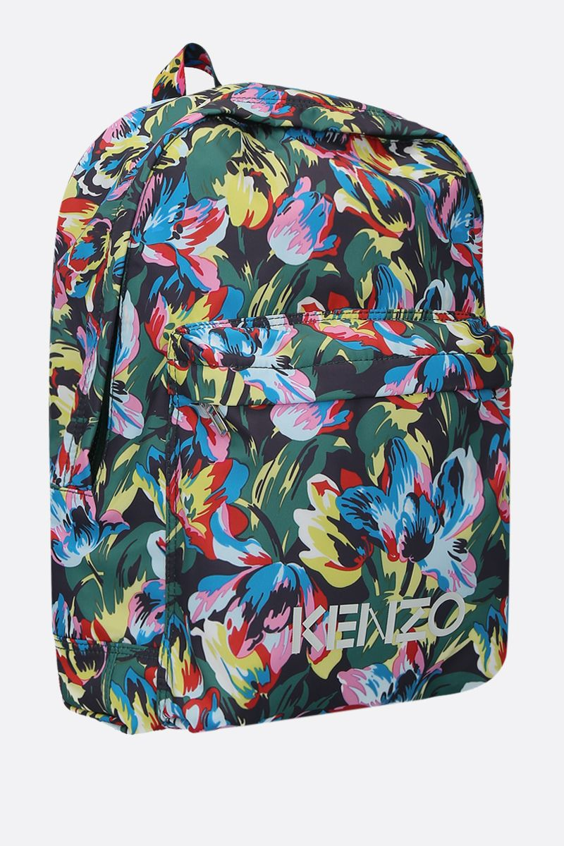 VANS X KENZO: Tulipes nylon backpack Color Black_2