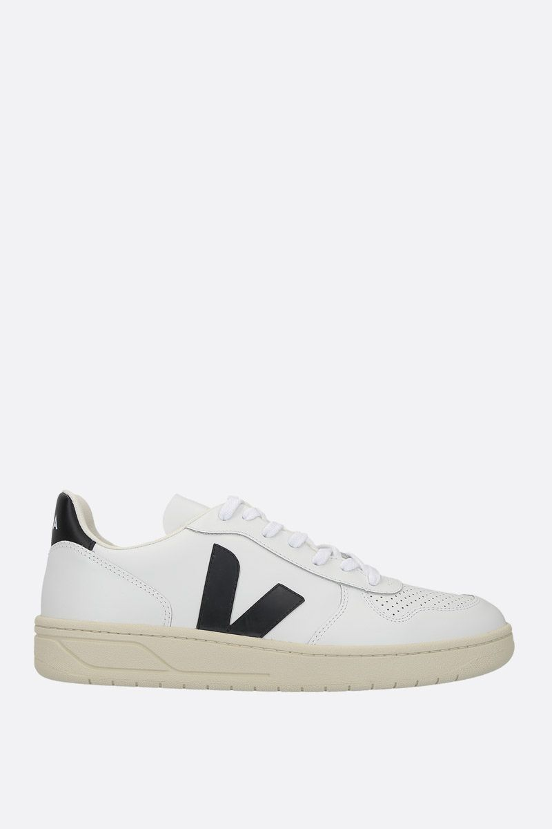 VEJA: V-10 sneakers in smooth and perforated leather Color Multicolor_1