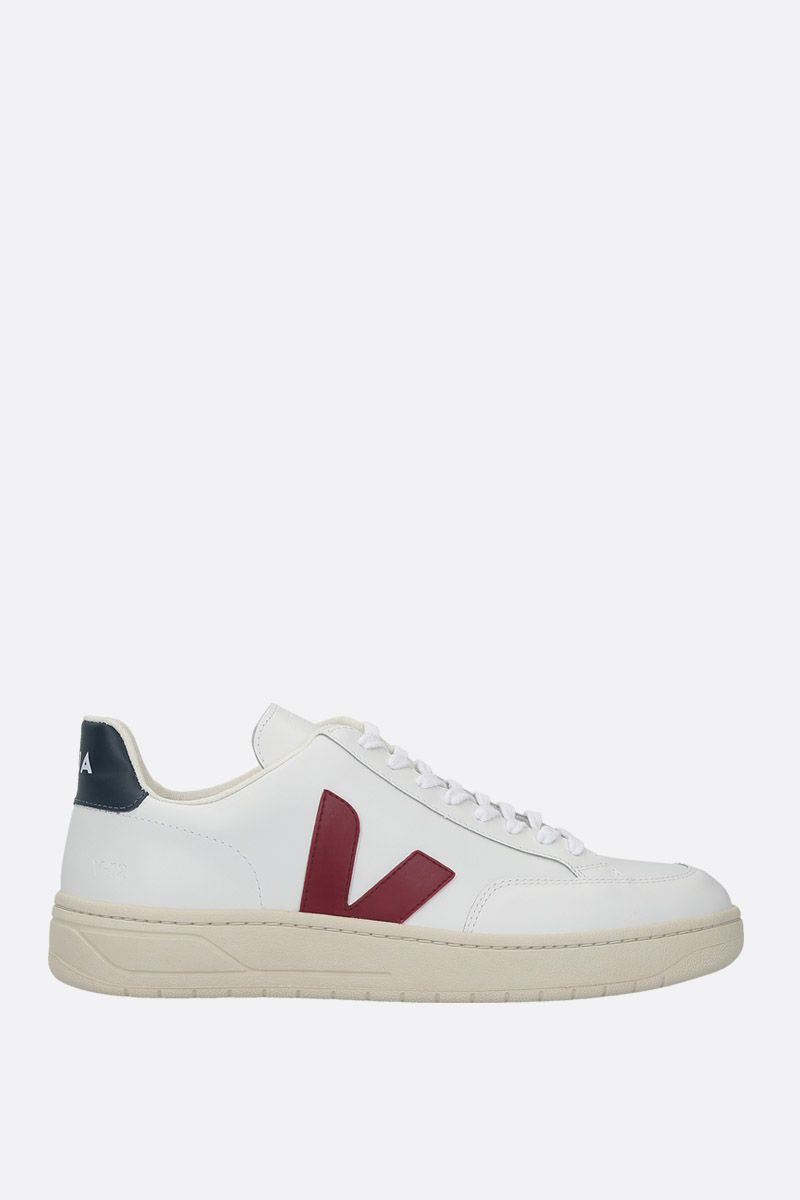 VEJA: V-12 sneakers in smooth leather_1
