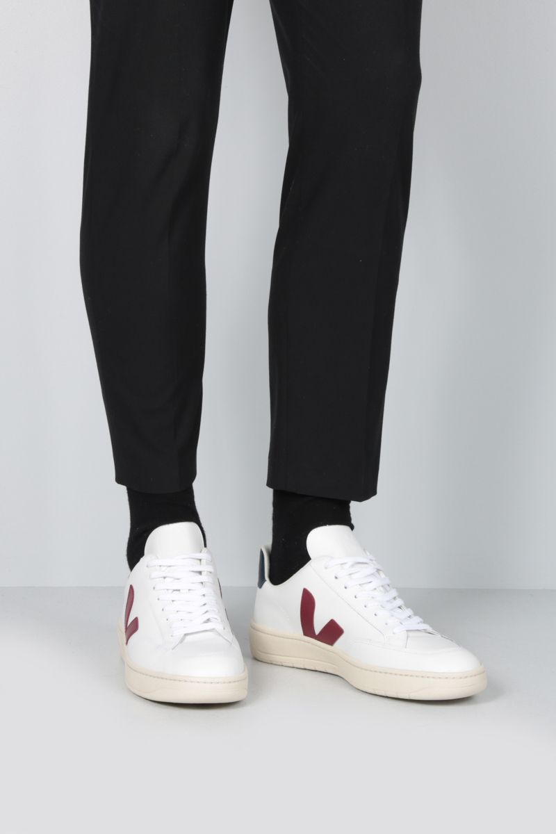 VEJA: V-12 sneakers in smooth leather_2
