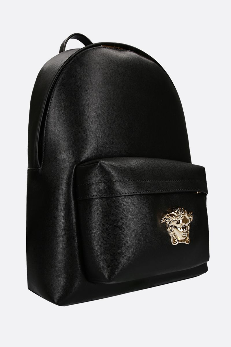 VERSACE: Medusa Head-detailed backpack in grainy leather Color Multicolor_2
