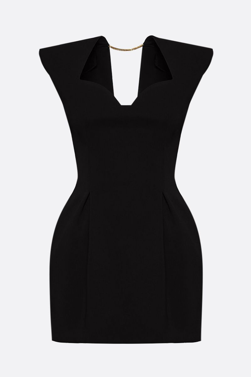 VERSACE: crepe sleeveless minidress Color Black_1