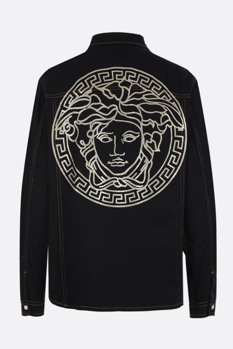 VERSACE: Medusa print cotton shirt Color Black_2