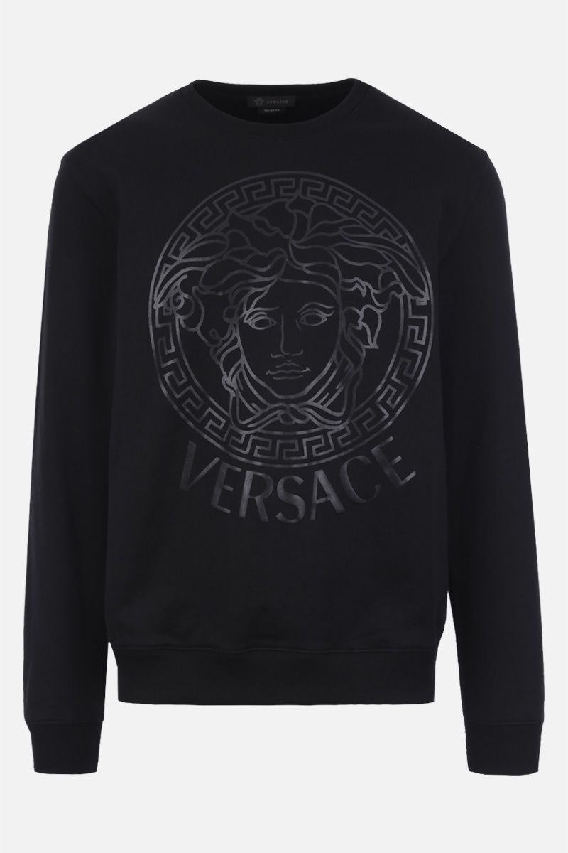 VERSACE: Medusa print cotton sweatshirt Color Black_1