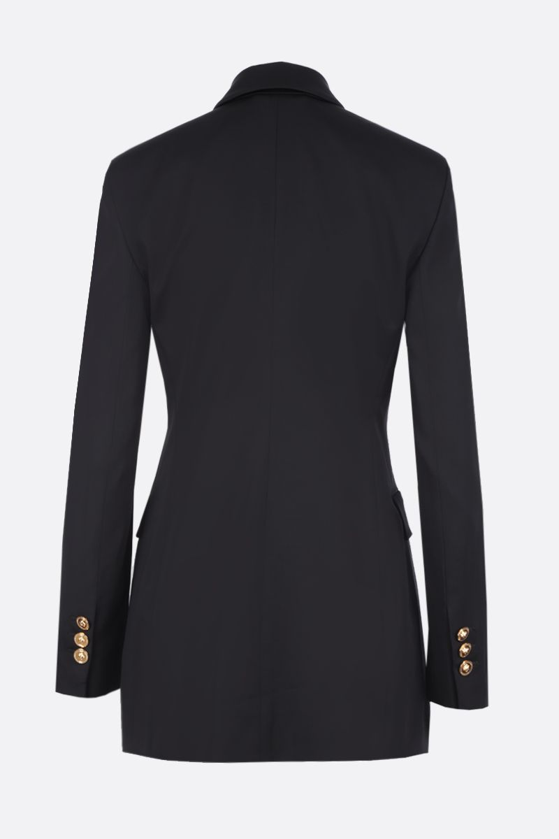 VERSACE: double-breasted jacket in stretch cady Color Black_2