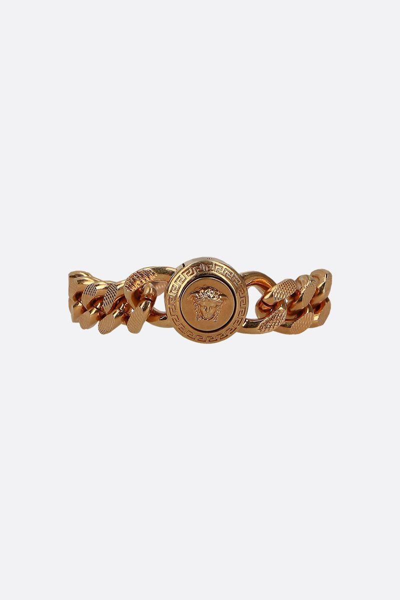 VERSACE: Medusa medallion chain bracelet Color Black_1