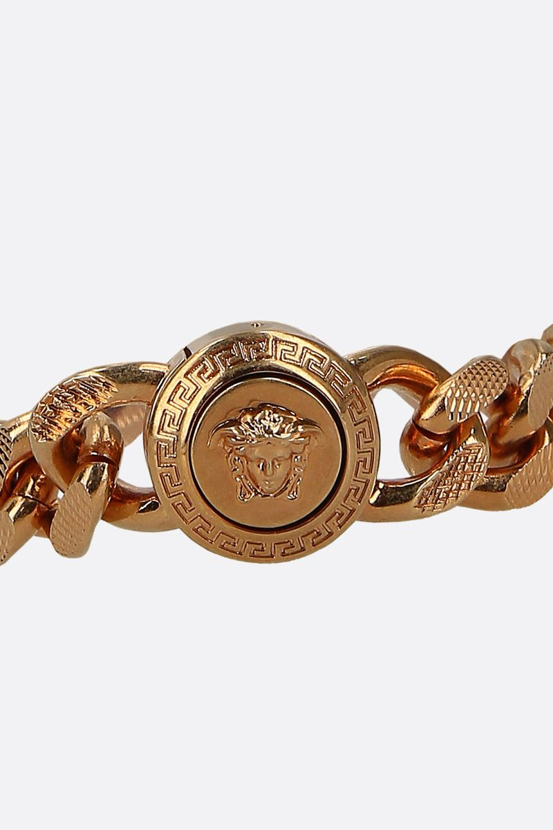 VERSACE: Medusa medallion chain bracelet Color Black_2