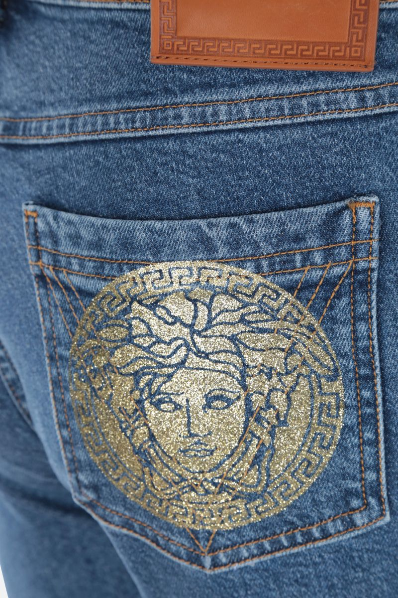 VERSACE: jeans straight-fit stampa Medusa_3