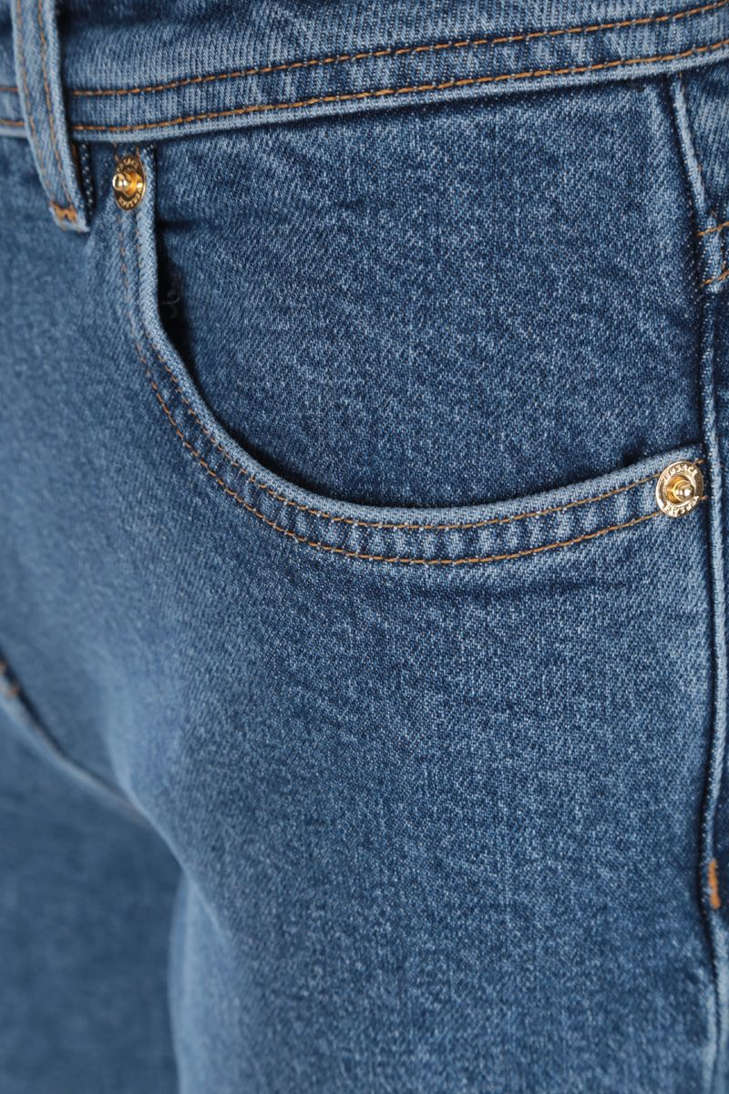 VERSACE: jeans straight-fit stampa Medusa_4