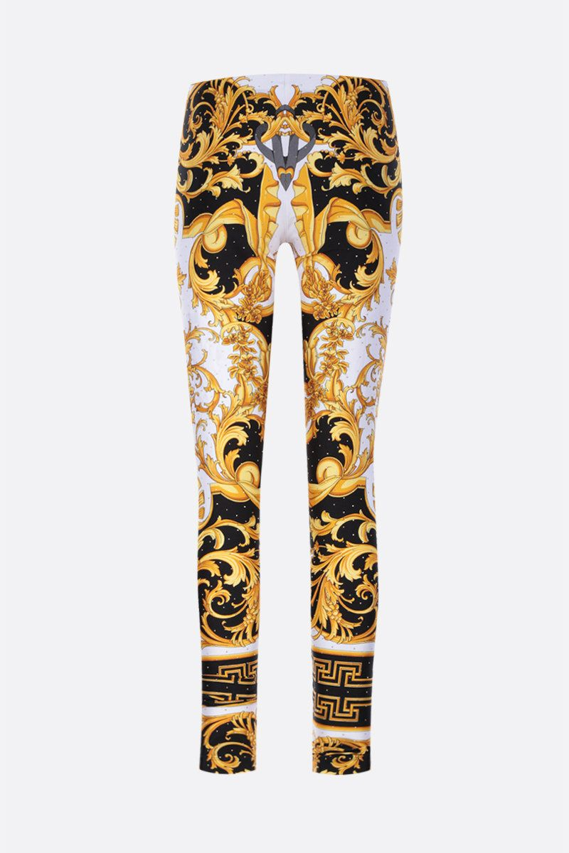 VERSACE: Barocco Rodeo print stretch jersey leggings_1