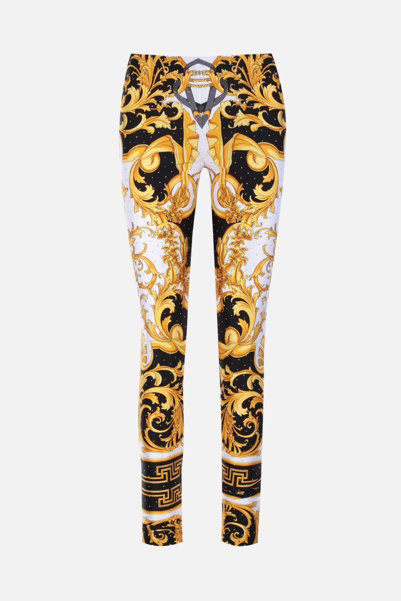 VERSACE: Barocco Rodeo print stretch jersey leggings_2